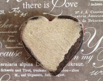 Paper Mache Vintage Mini Heart Valentine  Box 113