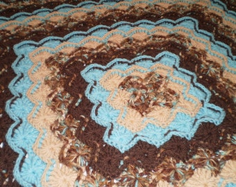 Afghan made in Bavarian crochet pattern