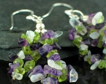 Mixed Gemstones Earring