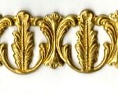 "6"" Brass Banding - Fancy Acanthus Flourish Metal Strip Gallery Wire"