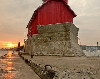 Grand Haven Sunrise - Canvas Wrap - Michigan Photography
