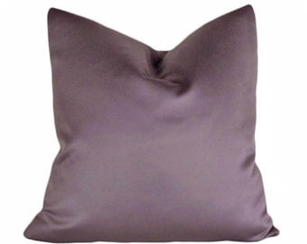 Modern Chic Purple Pillows, 18x18, Solid Purple, Contemporary Cushion Cover, Luxury Accent Pillow,