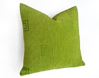 Vibrant Green Throw Pillows, Solid Green Pillow Covers, Textured Pillows, Green Cushion Covers, Green Lumbar Pillow, 14x20, 18x18, 20x20