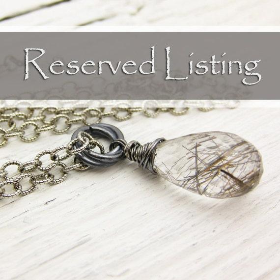 Custom for Yasmina : Bronzite Simple Bracelet in Sterling Silver