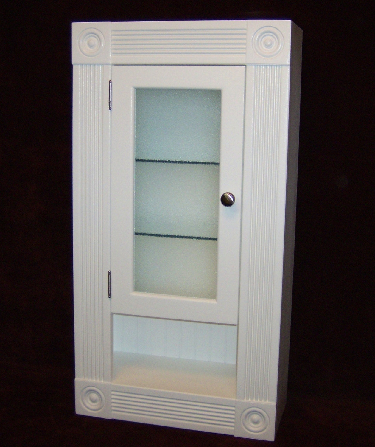 Bathroom Cubby Shelf: Victorian Style Bathroom Storage Cabinet With Cubby