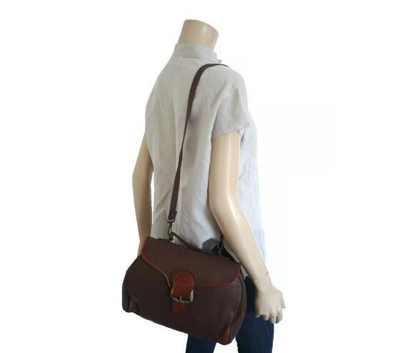 reserved for rasmee   JONES FRench Vintage Brown Satchel / Shoulder bag