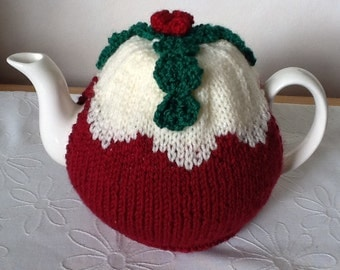 Christmas Pudding Tea Cosy - special edition in dark wine