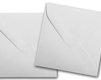 WHITE 3 1/8  inch SQUARE Envelopes 50 pk