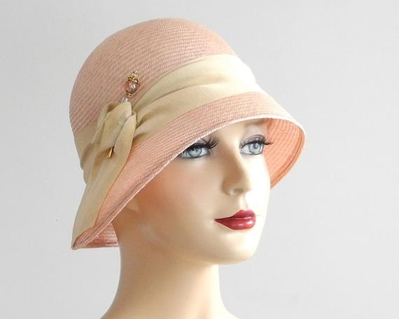 Straw Cloche Hat Women's Straw Hat Spring Fashion by ...