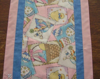 "Easter and Spring or Summer Reversible Table Runner 13 1/2"" x 45"""