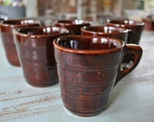 SALE MarCrest Daisy and Dots Coffee Cups set of 6