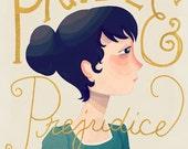 Pride And Prejudice Cover - Illustration Print
