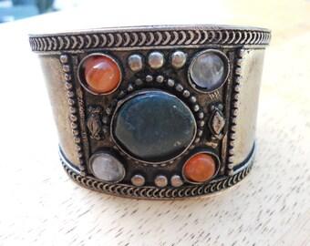 Tribal Gemstone Cuff Bracelet