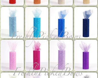 Confetti Bulk Glitter Tulle 6 x 10 yards  16 colors to choose from