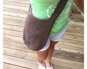 Custom order! Crochet market tote & water bottle holder