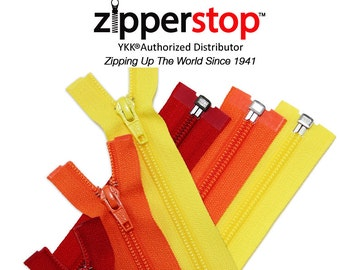 30 Inch or 36 Inch Jacket Zipper YKK #5 Nylon Coil Separating (Options Length, Color)
