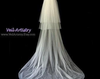 Wedding Veil, Classic Veil, 3-Tier Veil, Chapel Veil, Cut Edge Veil, Bespoke Veil, Handmade Veil