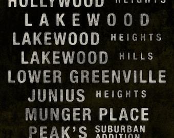 East Dallas Subway Scroll