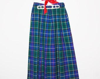 Vintage Skirt Pendleton Traditional Plaid Wool