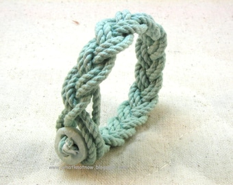 Dysautonomia Advocacy Foundation braided one button rope bracelet CLOSEOUT