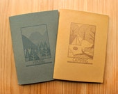Letterpress Notebook Set - Hiking and Camping