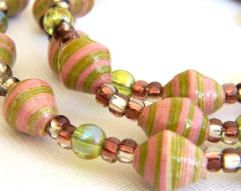Paper Bead Jewelry - Necklace - #1417