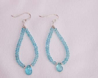 Beautiful Apatite Dangle Earrings