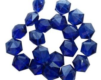 Blue Glass Beads - Set of 5 beads