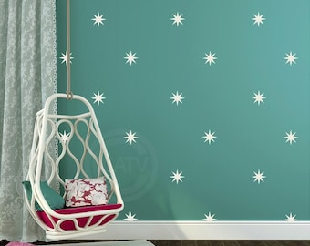 Star Bursts Vinyl Decals (3+ sizes and 35+ colors to choose) vinyl lettering quote wall saying decal sticker art