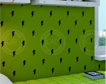 Vinyl decal Super Hero Lightning Bolts  wall decal stickers lettering art nursery kids room decor