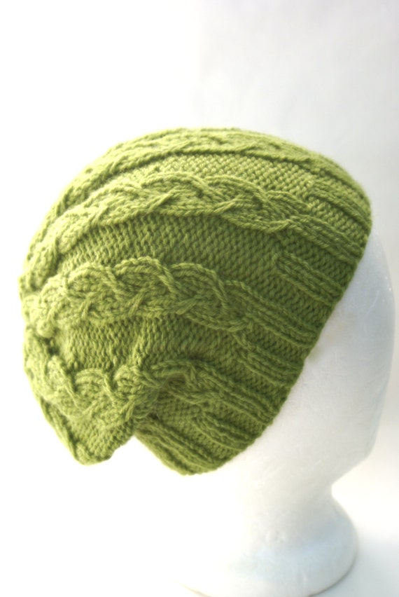 Drawing Knitting Pattern : Cable knit hat pattern for knitted hats knitting