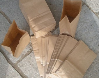 50 Penny Small Brown Paper BAGS