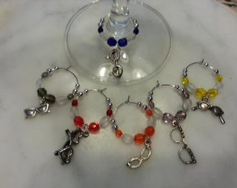 Optometry Ophthalmology Optician  Eye Glass Lover Wine Charms