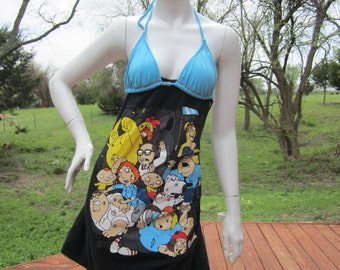 EPIC Family Guy cast t shirt bikini dress