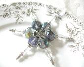 SALE Crystal Snowflake Ornament Handmade Ornament