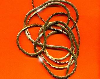 Vintage 6 Feet Gorgeous Shiny Aged Brass 3mm Serpentine Chain  JL6