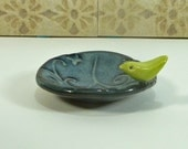 Ring dish with bird pottery bowl