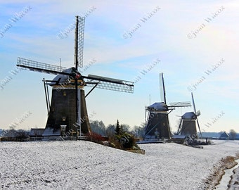 Leidschandam Scenic Windmills of Holland Netherlands Dutch Fine Art Photography Print