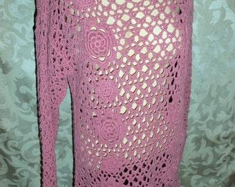 Vintage Crochet Shirt Bohemian