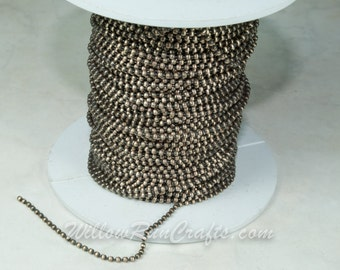 1 Antique Bronze Ball Chain Spool  1.5 mm--Lead Free-100 Ft with 50 connectors. (15-44-350)