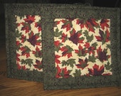 Leaves Quilted Pot Holders - Set of 2