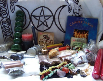 Wicca Supplies Witchcraft - Pagan Candles Incense Herbs Charms Stones Handmade Items + More