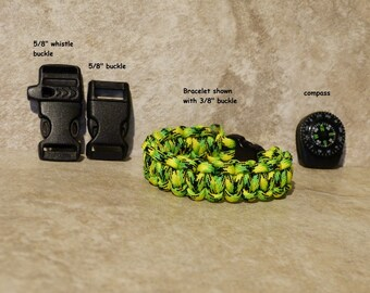 Dragonfly Paracord Bracelet Yellow Green Survival Bracelet 550 para cord compassMens Boys Childs Hiking Backpacking Camping Gear Accessories
