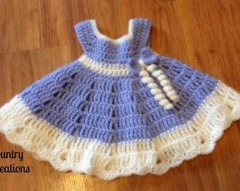Baby Girl Dress/Full Frilly Dress Preemie Dress/Newborn Dress (Ready to Ship)