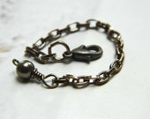 3 Inches Pearl Necklace Extender - Bronze - Brown, Rustic, Black, Chocolate, Chain, Cute, Classic