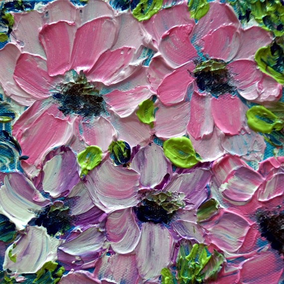 oil painting pink flower - photo #16