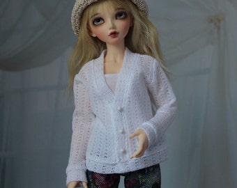 Minifee Cardigan, Loose Fit BJD Sweater, MNF Shirt 1/4 Size Doll Clothes
