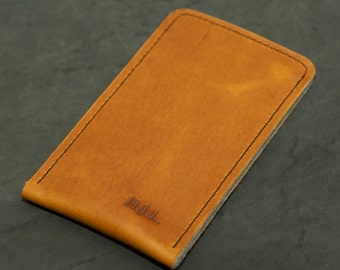 Galaxy S8, Galaxy S8+ Leather Sleeve  - CHARACTER, Organic Leather