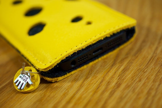 iPhone Leather Sleeve Cheese Case
