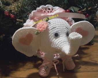 Christmas Ornamet Cover Elephant Ballerina Pattern